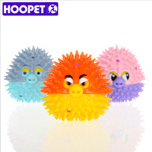 HOOPET Pet Rubber Ball Chew New Dog Sound Teeth Playing Toy(China)