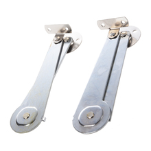 1 Pair Silver Tone Metal Replacement Home Furniture Lid Support Hinge Stay