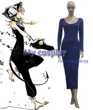 Anime Soul Eater Cosplay clothing- Soul Eater Cosplay Medusa Blue Women's Party Costume for Halloween Freeshipping(China)