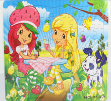 Free shipping premiums GC-PTH-1-OPP Blue 29 X 28.5 cm 72PCS Strawberry Girl Cartoon Jigsaw puzzles manufacturer toy
