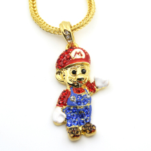 Fashion Cartoon Game pendant Hip hop Necklace Jewelry Bling Bling N620
