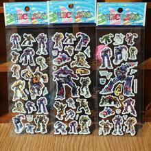 reward stickers 10PCS Mixed cartoon bubble wall stickers 3D Transformers toys / children's cartoon bubble stickers decoration
