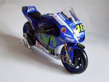 1/10 Scale YAMAHA Diecast Valentino Rossi No.46 Motorcycle Model With Box Moto GP YZR M1 Kids Toys Collection