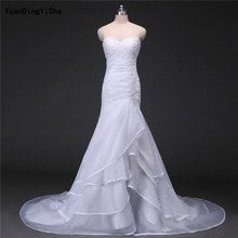 Buy Real Picture Lace Mermaid Wedding Dress 2017 Lace-up Back Sweetheart Vestido De Novia Sexy Chapel Train Bridal Gown Dresses for $236.00 in AliExpress store