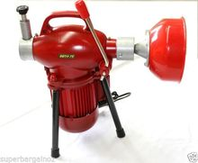 1400rpm Electric Drain Cleaner Rigid Plumbing Eel Snake Sewerage Pipe Machine