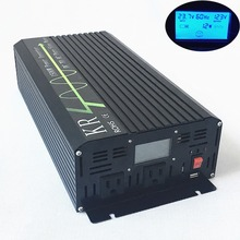 Ship from US Power Inverter 1500W Peak 3000W Off Grid Pure Sine Wave 12V/24V to 120V with LCD Display USB Port Home Use Car Use(China)