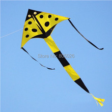 free shipping high quality children ladybug kite with handle line easy control wei kites factory weifang kite wholesale kitesurf(China)