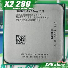 AMD Athlon II X2 280 CPU Processor Dual-Core (3.6Ghz/ L2=2M /65W / 2000GHz) Socket am3 am2+ free shipping 938 pin ,sell X2 270(China)