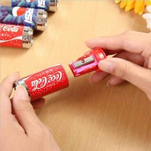 1pc Cute Mini Cola Pencil Sharpener With Eraser, Pencil Sharpener Student School Supplies