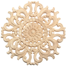 Boutique Lots Wood Carved Long Onlay Applique Unpainted Flower Walls Cabinets Door Decor Type:15cm Type A