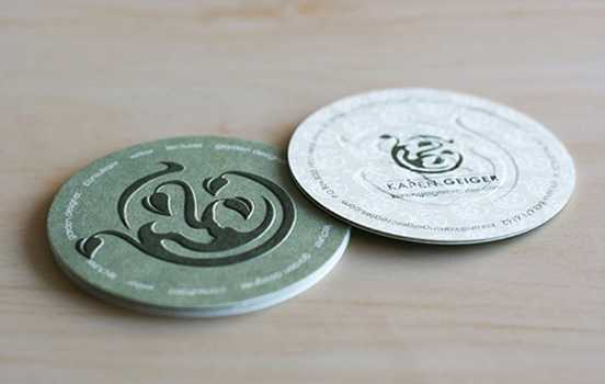 custom emboss printed round business cardletterpress printing color visit card 600gsm die cut special - Round Business Cards