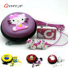 2017 new Hello Kitty mp3 Totoro Anime Sports MP3 music player with earphone and bag(China)