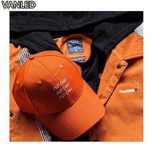 American Style Letters Embroidery Orange Lovers Baseball Cap