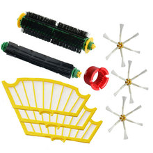 Bristle & Flexible Beater Brush & Hepa Filter & Side Brush kit Replacement for iRobot Roomba 500 Series 520 530 560 580(China)