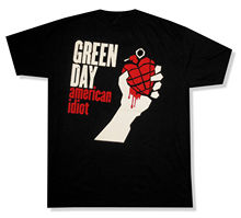 "GREEN DAY ""AMERICAN IDIOT"" BLACK T-SHIRT NEW OFFICIAL ADULT NWT HEART GRENADEE playeras estampadas personalizadas"