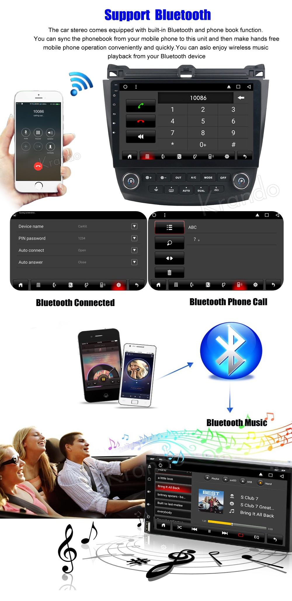 Krando honda accord 7 Android car radio gps navigation multimedia system (3)