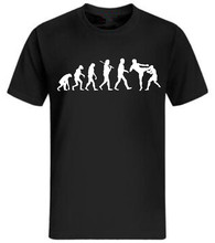 Evolution T-Shirt Men'S Ultimate Fighting Muay Thai Hardcore Fight Shirt Fun Shirt Funny Cotton Top Tees Black Plus Size S~3Xl