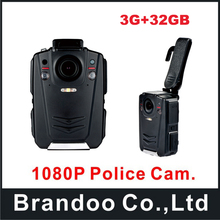 32GB Full HD 1080P Police Body Worn Video Camera Recorder DVR IR Night Cam with 3G function