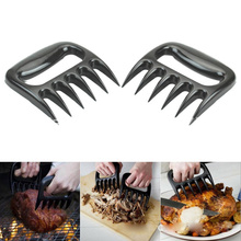 2pcs Practical sub-meat fork BBQ Meat Claws Shredding Lift Tongs Pull Handler handling Fork Toss New Pork cooking tools(China)
