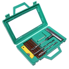 1 Set Auto Car Tire Repair Kit Car Bike Auto Motorcycle Tubeless Tyre Puncture Plug Repair Tools Kit Tyre Steel Needle Tool Sets(China)