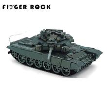 Finger Rock T90 Main Battle Tanks 3D Metal Puzzle Military Series Stainless Steel Model DIY Assembly Toy