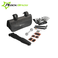 ROCKBROS Mini Bike Bicycle Repair Tool Box Kit Set Multitool Cycling Tire Repair Service Portable Hex Wrench Pump Tools and Bag(China)