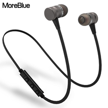 MoreBlue BT05 Sport Bluetooth Headphones Metal Magnetic Wireless Earphones Stereo Bass Headset HIFI Earbuds Handsfree With Mic