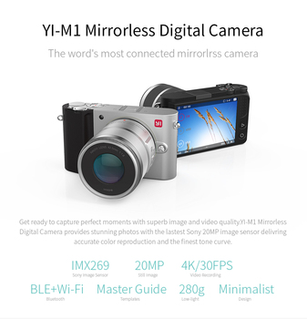 YI M1 Mirrorless Digital Camera Prime Zoom Two Lens LCD Minimalist RAW 20MP Video Recorder 720RGB  International Version 2