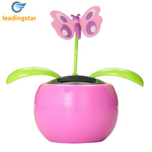 LeadingStar Automobile Decoration Solar Power Automatic Swing Apple Flowerpot Moving Dancing Butterfly Car Toy zk25(China)