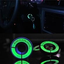 LED Luminous Car Ignition Key Ring Coil Sticker Switch Cover Car Styling Circle Light key Ring for Ford Chevrolet Toyota Honda(China)