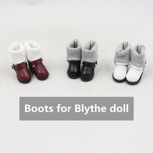 Fortune days free shipping boots shoes long stocking only for blyth doll 30cm 1/6 bjd neo toy gift 2.8cm(China)