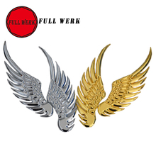 1Pair 3D Car Logo Sticker Alloy Metal Angel Hawk Wings Emblem Badge Decal