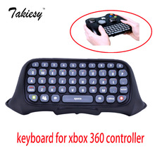 free shipping High Quality ABS Text Messenger Keyboard Keypad Chatpad For Xbox 360 Wireless Controller Black(China)
