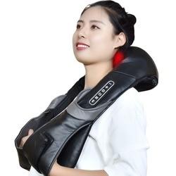 Массажер сиацу для шейного отдела позвоночника с электрическим роликом и подогревом