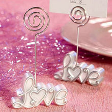 wholesale wedding favors party gifts gifts pearl white love place card holders new design 100pcs