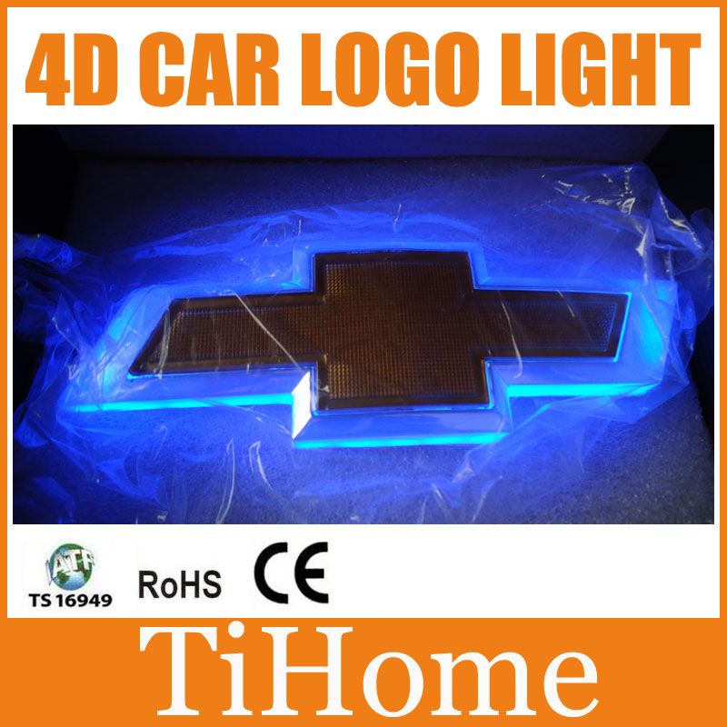 Free Shipping 4D LED Car LOGO Light/Lamp 4D LED car emblem badge light for Chevrolet Aveo/Cruze<br>