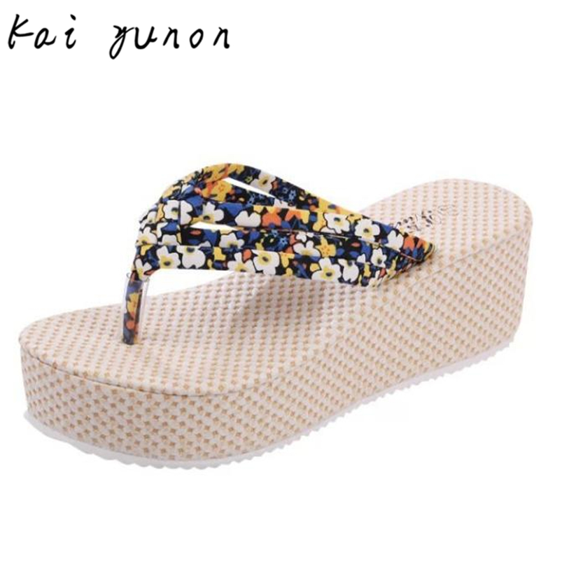 kai yunon Heavy-bottomed Slippers Slope With Stylish Atmosphere Flip-flops Oct 10<br><br>Aliexpress