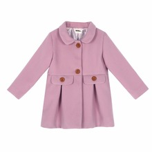 New Winter Girl's Coats Toddler Purple Baby Girls Warm Wool Jacket Princess Snowsuit Tops Outwear