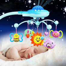 Baby Toys Rattles Projecting Musical And Rotating Baby Mobile Musical Bed Bell With 50 Music Toys For 0-12 Months