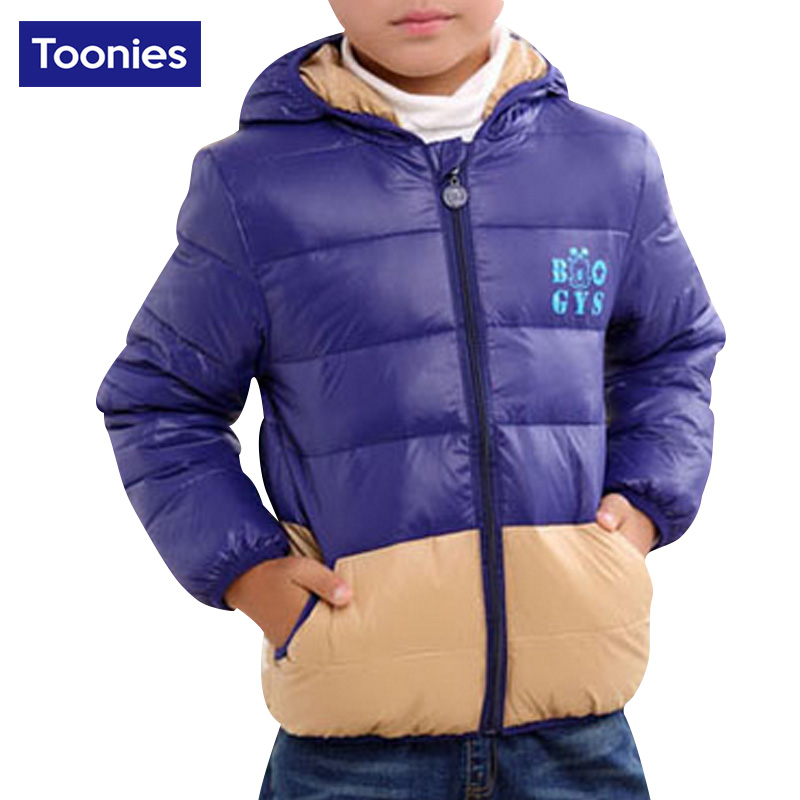 2017 Winter Brand New Hooded Jacket for Boy Zipper Warm Letter Printed Slim Cotton Casual Down Coat Children Kids Outerwear ParkОдежда и ак�е��уары<br><br><br>Aliexpress