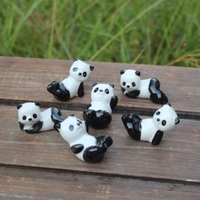 6 designs panda animals fairy garden miniatures mini gnomes moss terrariums resin crafts figurines for garden decoration zakka
