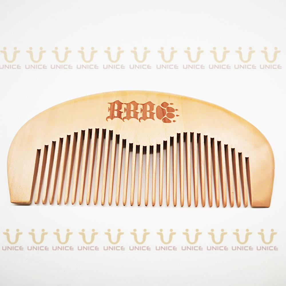 100pcs/lot Your LOGO Customized Private Label Combs Hair Beard Wood Comb for Men & Women for Barber Shop Retail Case 44