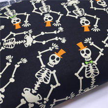 100x110cm Export Order_Cotton Plain Cloth Skull Fabric for Sewing Home Decor Novelty Designer Upholstery Fabric Handmade DIY