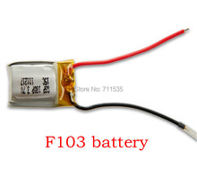 Free Shipping 3Pcs/Lot 3.7V 180MAH Lithium Battery Spare Parts For DFD AVATAR F103 4Ch LED Infared Remote Control Helicopter Toy(China)