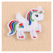 1 PCs Cute Cartoon Horse Unicorn Patches Iron On Embroidered Patch For Clothing Stick On Badge Paste For Clothes Sew On Bags(China)
