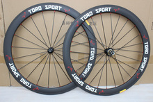 1 pair high quality 700C carbon wheels clincher 50mm rims 3K carbon bicycle wheel road bike wheelset Aero spokes