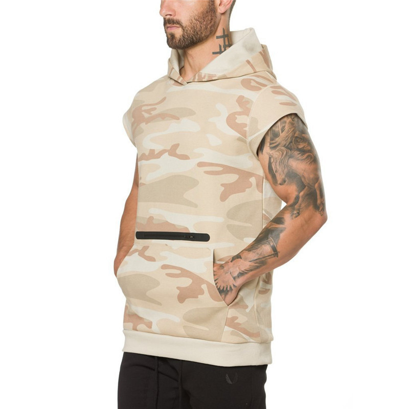 Camouflage fitness Men Sweatshirt-9