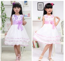 Wholesale Kids Girls Formal Dress Children Flower Girl Princess Tutu Dress Tulle Party Wedding Birthday girls Dresses
