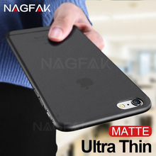 NAGFAK Black Ultra Thin Matte Phone Case For iphone X 8 7 6 6S Plus Case Hard PC Protective Shell For iPhone 6 7 Plus Cover Capa(China)