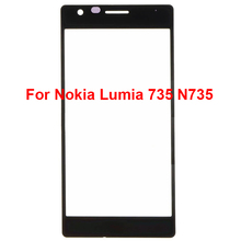 "Lumia 735 N735 Original Touch Panel Front Screen Outer Glass Lens 5"" Replacement Repair Part For Nokia Lumia 735(No Digitizer)"